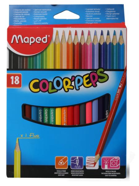 Maped drvene bojice color peps 1/18
