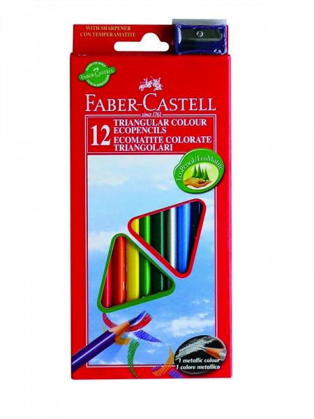 Faber castell drvene bojice 1/12 sa rezačem